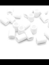 40 stuks siliconen koordstoppers - wit - voor mondmaskers