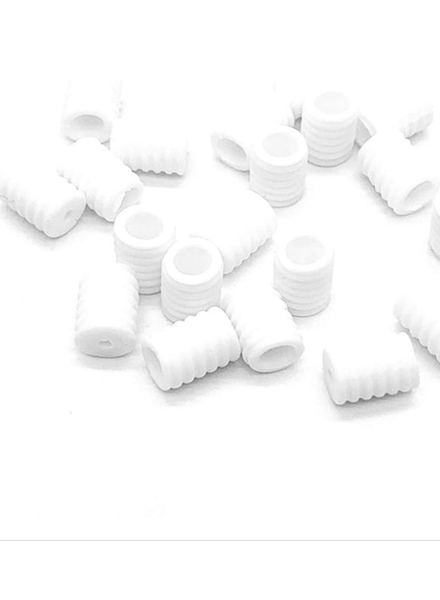 40 pcs - silicone ear-savers - white