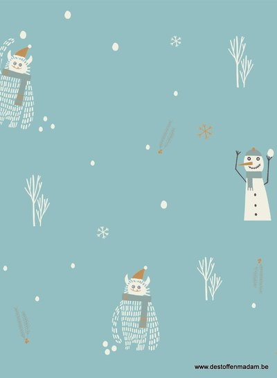 snowman - coated cotton