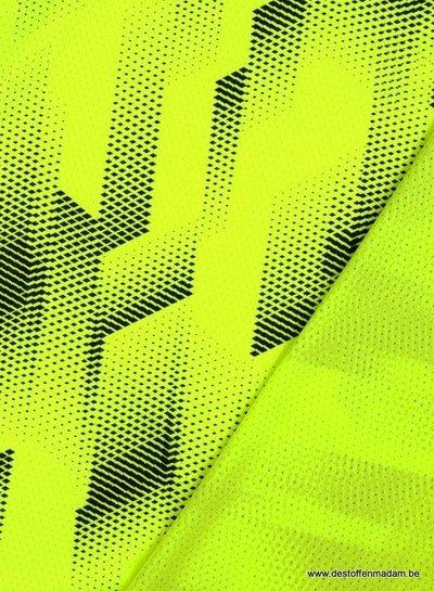 neon geel - sportkleding met gaatjes/lycra
