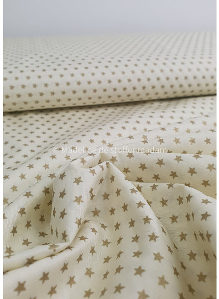 offwhite with golden stars - Christmas cotton