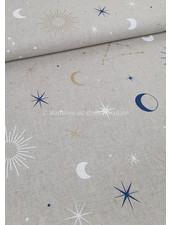 maan en sterren - canvas