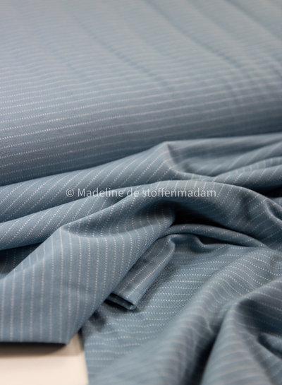 babyblauw streepjes - tricot