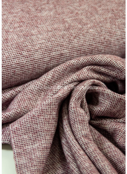 burgundy - recycled kitted jacquard