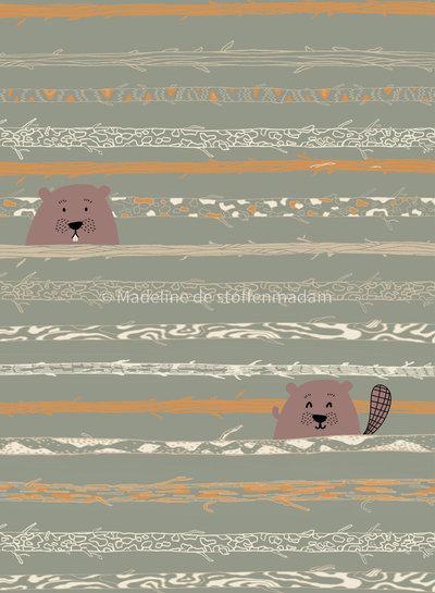beaver tooth & trees - poplin katoen