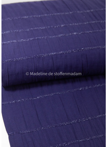 cobalt - cotton  with embroidered lines