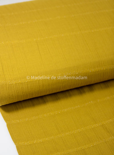 ochre - cotton  with embroidered lines