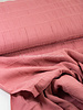 pink - cotton  with embroidered lines