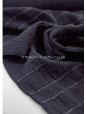 black - cotton  with embroidered lines