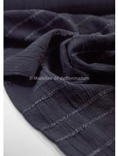 zwart - katoen met geborduurde lijnen