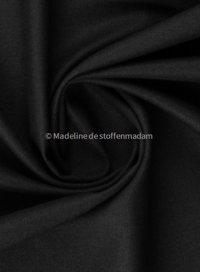 zwart - 100% katoen - zachte canvas