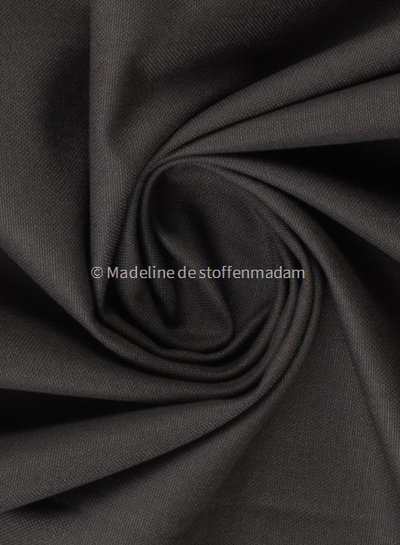 antraciet  - 100% katoen - zachte canvas