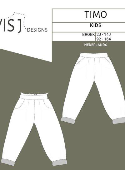 Wisj patterns Timo Baggy pants