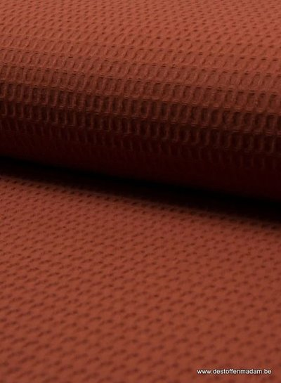 terracotta - waffle cotton