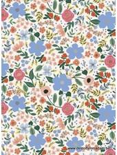 RIFLE PAPER Primavera - Wild Rose - Cream Metallic - cotton