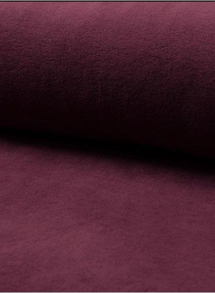 burgundy - bio cotton fleece