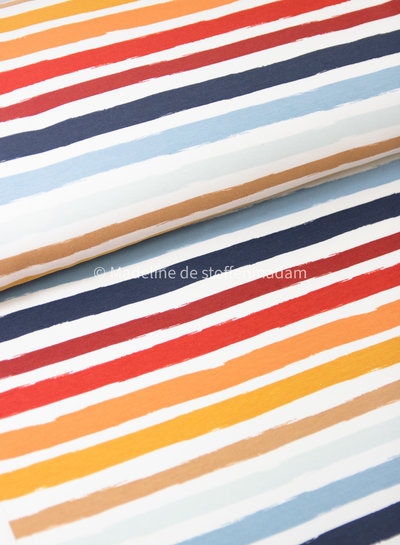 ecru/blue stripes - french terry