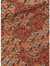 See You at Six Gilly flowers - Sunburn brown - Cotton Canvas Gabardine Twill
