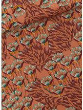 See You at Six Gilly flowers - zonnebrandbruin - Katoen Canvas Gabardine Twill