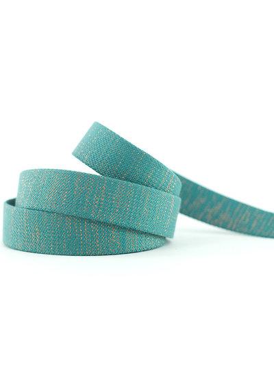 See You at Six slate blauwgroen - tassenband SYAS
