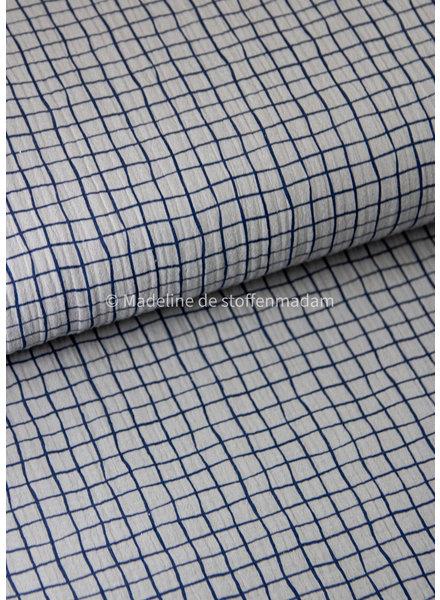 Swafing grey squares - tetra double gauze