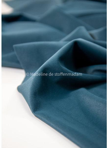 petrolblauw velvet  - soepele en zachte decoratiestof