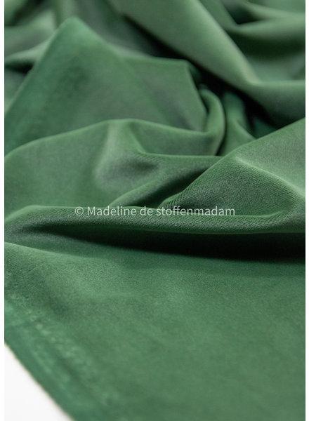 bottle green velvet - decoration fabric