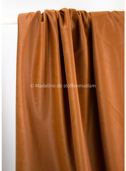 tobacco velvet  - supple and soft decocoration fabric