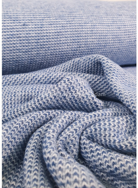 cobalt - recycled knitted jacquard
