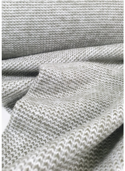 khaki - recycled knitted jacquard
