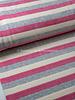 roze gestreept met textuur - nicky velours