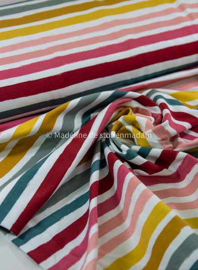 pink stripes - french terry