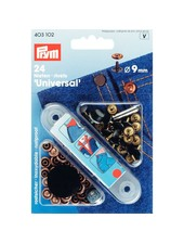 Prym denim siernieten / rivetten - brons - 9 mm