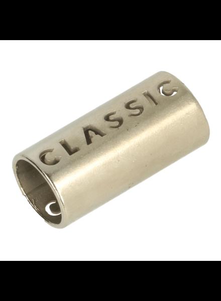 metalen koordstopper - mat zilver - classic