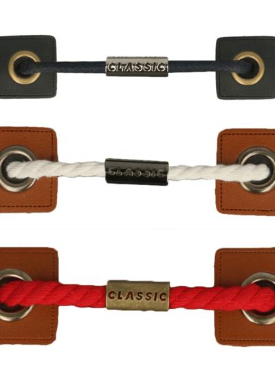 metalen koordstopper - zwart nikkel - classic
