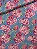 Swafing blue/pink big roses - cotton