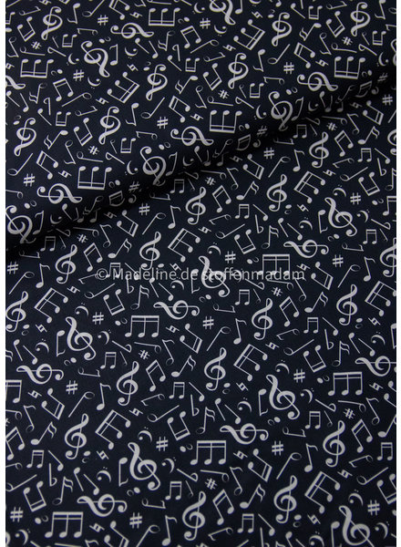 musical notes - cotton