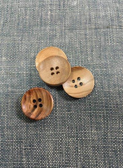 houten knoop 18mm kuipje