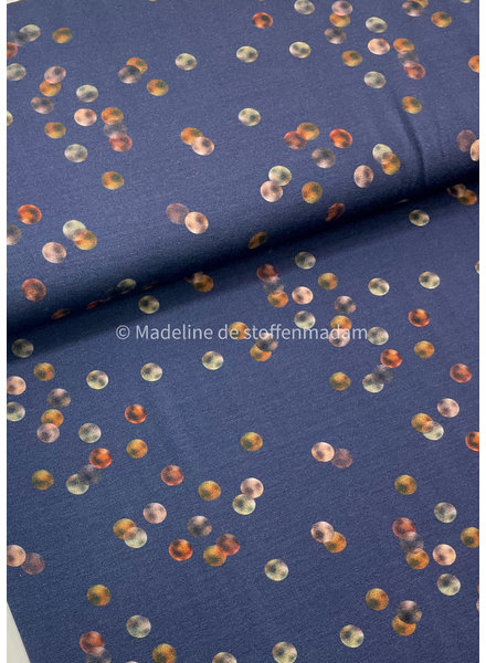 WATER COLOR dots - viscose jersey