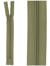 close end zipper - army green color 566