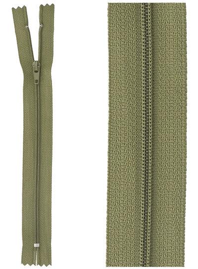 close end zipper - army green color 566