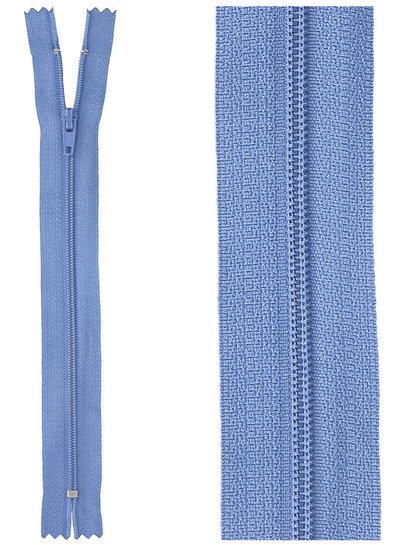 close end zipper - denim blue color 557