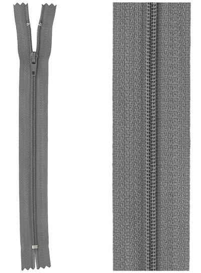 close end zipper - dark grey  color  182
