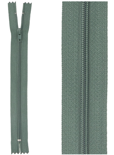 close end zipper - green  color 530