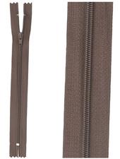 close end zipper - dark brown color 570