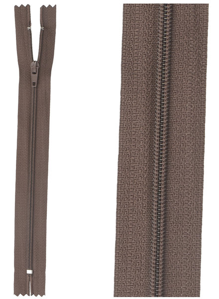 close end zipper - dark brown color 570
