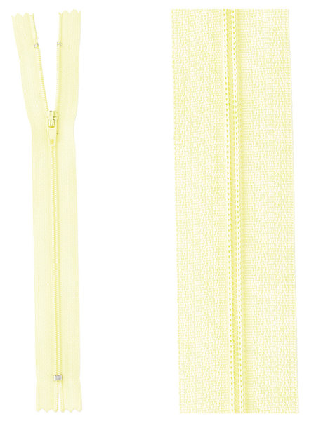 close end zipper -lemon yellow color 503