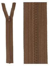 open end zipper  -  mocha color 568