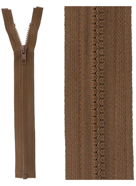 open end zipper  -  mocha color 568