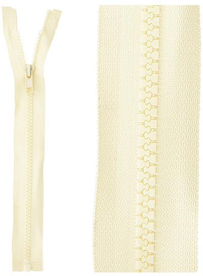 open end zipper - beige color 55